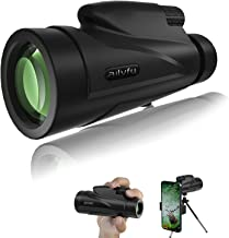 Monocular Telescope, ailyfu 12X50 HD Large Eyepiece Monocular with Smartphone Holder, Tripod and BAK4 Prism for Watching B...