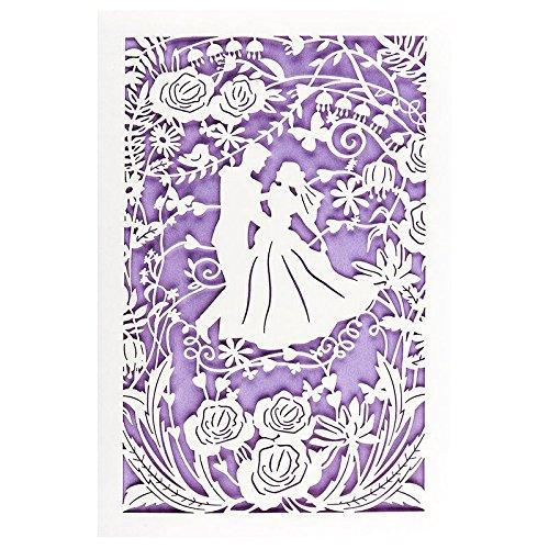 Hochzeitskarte | 12 cm x 18 cm | Mit farbigem Einleger & Umschlag | Grußkarte für Hochzeit | Glückwunsch-Karte | Motiv: Brautpaar, Vermählung, Tanzendes Paar (Design 7)