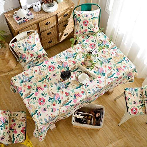 SONGHJ Lino de algodón Impresión Simple Mantel de Hoja de Arce Manteles de Fiesta rectangulares Manteles de Comedor Ropa de hogar Mantel A 135x260cm / 53x102in