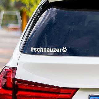 Schnauzer Hashtag Vinyl Car Sticker Decal #Schnauzer