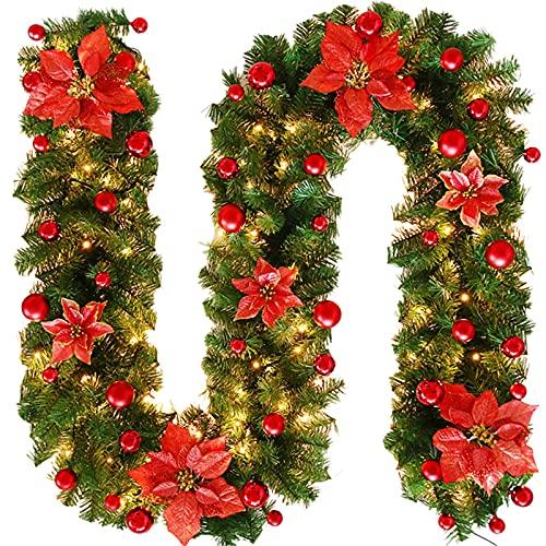 Weihnachtsgirlande KüNstlich Tannengirlande LäNge 270Cm Weihnachtsdekoration Excellente FüR KüNstliche Tannen Girlande Dekogirlande Weihnachtsrattan