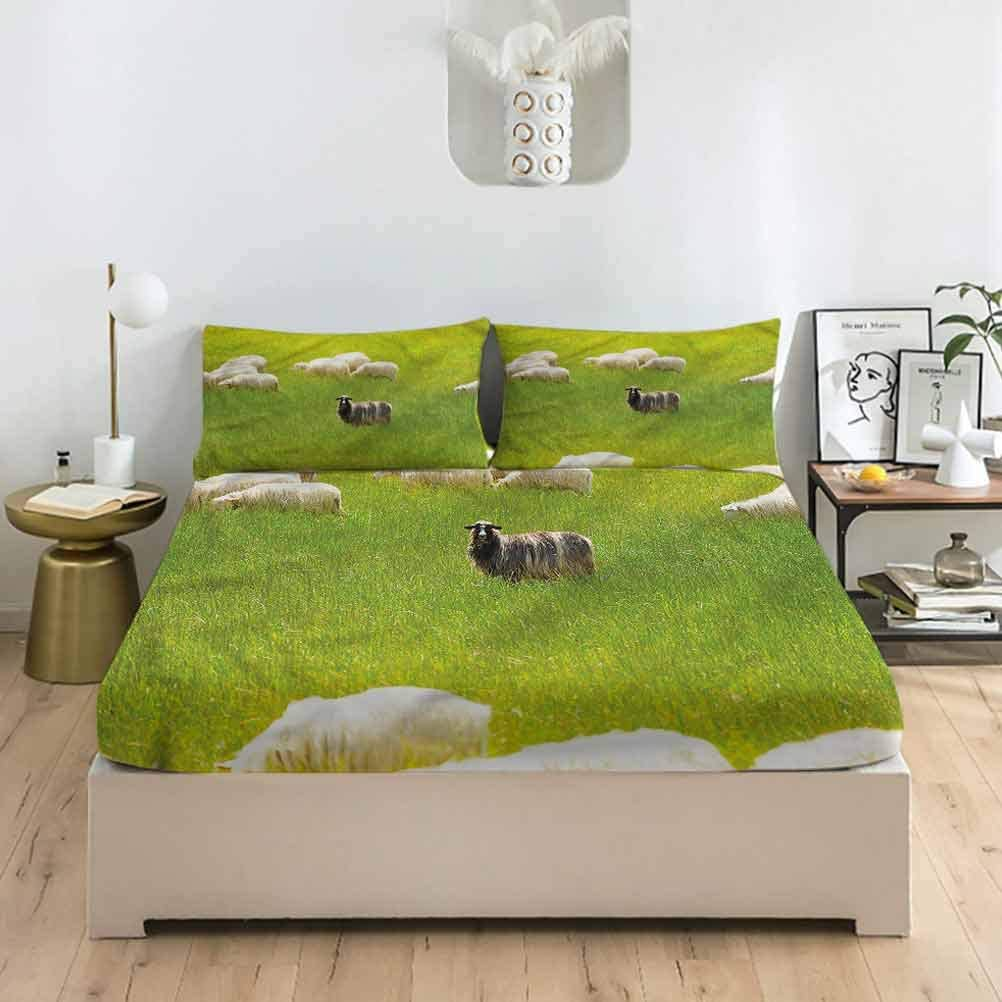 LCGGDB Nature Full Outlet SALE Size Fitted Selling and selling Pillowcase Wil Sheet Birds Sets