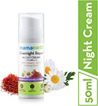 Mamaearth Skin Repair Night Cream for Glowing Skin & Anti Ageing, with Collagen, Saffron & Daisy Flower