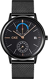 CKE Men's Watch Fashion Wrist Watches for Men Waterproof Dress with Stainless Steel Band