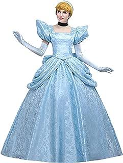 Angelaicos Women's Luxury Light Blue Party Long Dress Costume Ball Gown
