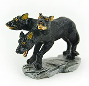Touch of Nature 55605 Cerberus Fairy Garden 3 Headed Dog, 3.25