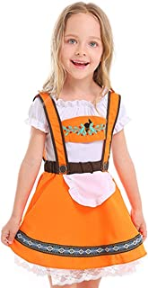 Kids Girls' Oktoberfest Costume Dirndl Bavarian Uniform