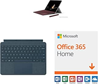 New Microsoft Surface Go (Intel Pentium Gold,4GB RAM/ 128GB) with Microsoft Office 365 Home | 12-month subscription with Auto-renewal, up to 6 people, PC/Mac Download & Surface Go Type Cover (Cobalt Blue)