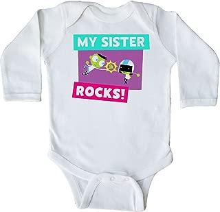 inktastic My Sister Rocks- Dee and Del High 5 Long Sleeve Creeper - PBS Kids