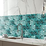 Homyl Mosaik Fliesenaufkleber Fliesenbild Fliesen Aufkleber Sticker Badezimmer Bad Folie, 20x500cm - 003 - 4