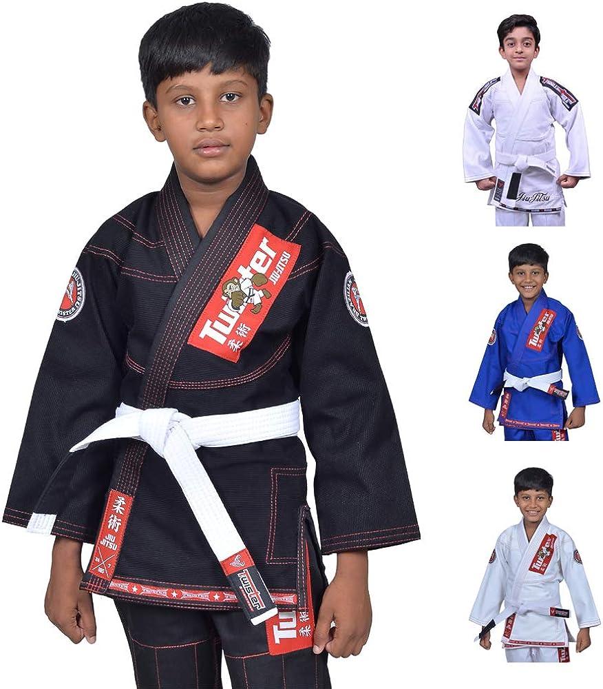 Twister Max 54% OFF Kids Jiu Jitsu Gi Ultra Rare Light Weave 400Gram Pearl Fabric