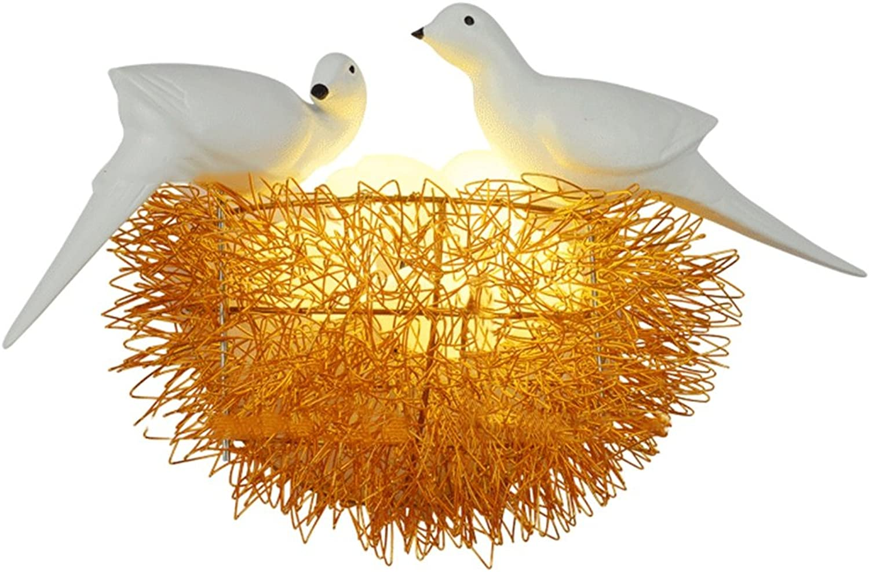 BITAIDENG Wandlampe Bett Schlafzimmer kreative Moderne minimalistische dekorative Vogel Nest Wandlampe Wandlampe Schlafzimmer Wohnzimmer Gang kreative Kind Wandleuchte, E
