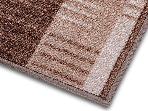 Meisterei 1A Teppich-Läufer auf Maß gekettelt | Murano (67x250, beige)