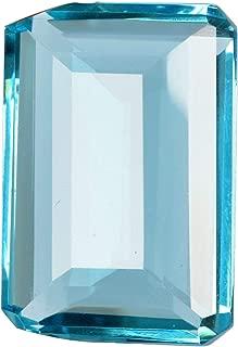 REAL-GEMS Topaze Bleue /à facettes 76,00 CT Pierre pr/écieuse en Vrac avec Topaze taill/ée Ovale Parfaite pour la Fabrication de Bijoux