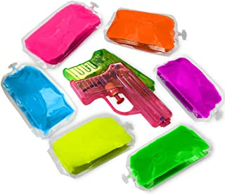 Holi Colored Gel – 6 Pack - with Squirt Guns. Put it into Squirt Guns. Green, Yellow, Blue, Purple, Pink and Orange, (UV Activated Too). Chameleon Colors.