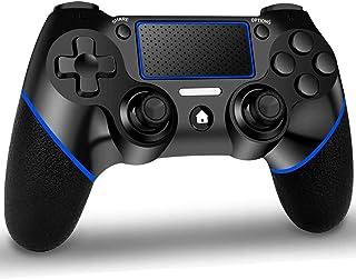 GEEMEE Manette pour PS4, Bluetooth Contrôleur Manette de Jeu sans Fil, Manette Wireless Gamepad à écran Tactile avec Doubl...