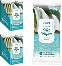 Personal Care® Alcohol-Free Antibacterial Wet Wipes | 12 Cases of 40 Disinfectant Hand sanitizing Wipes with Vitamin E, Total 480 Wet Wipes.