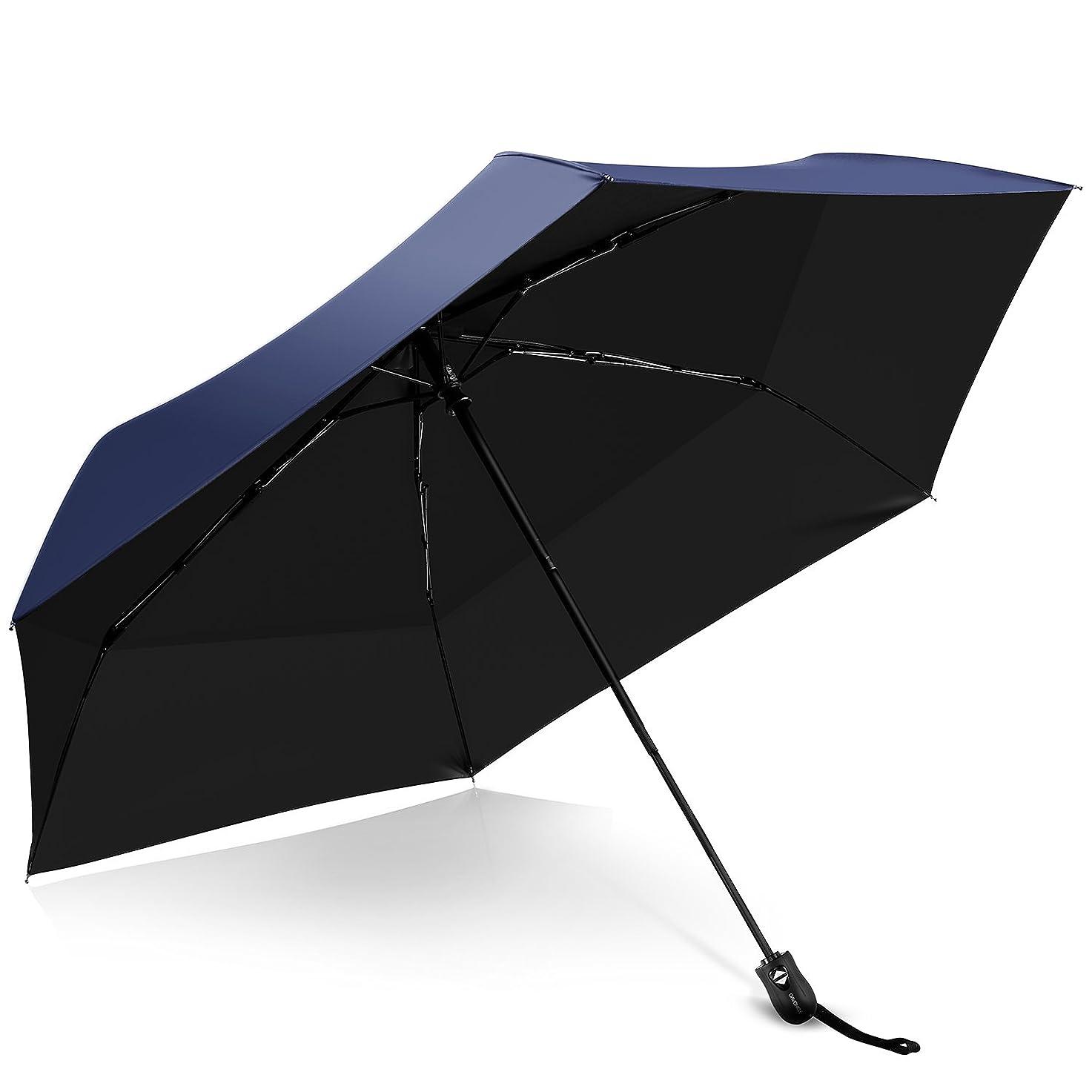 移行生理ゲーム折りたたみ傘 超軽量264g ワンタッチ自動開閉 晴雨兼用 おしゃれ 6本骨 95cm 210T高強度グラスファイバー 耐風撥水 UVカット率100%以上 持ち運び簡単 コンパクト 通勤 通学 旅行 おりたたみ傘 収納ポーチ付き(ネイビー)