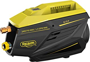 Realm 2400 PSI 1.5GPM Electric Pressure Washer with Brushless Induction Motor | Ultra Low Sound | Pure Copper Motor | Power Efficient| for Vehicle, Home, Garden