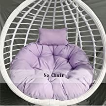 Furniture Overstuffed Papasan Chair Cushion,Extra-Comfortable & Soft Nest Round Cushion,Hanging Egg Chair Hanging Basket S...