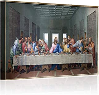 Wall Decor for Living Room The Last Supper,Leonardo Da Vinci Classic Wal Art Oil Painting on Canvas Print and Museum Quali...