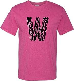 T-Shirts Image of Pink Watercolor M Monogram Monogram 3dRose Gabriella B
