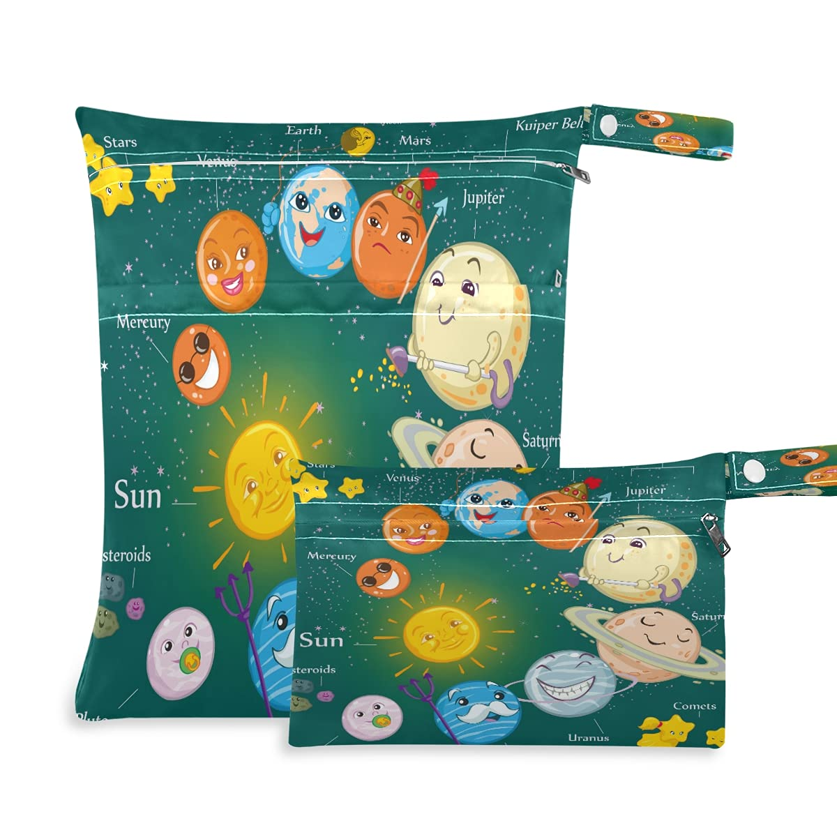 Wet and Dry Bag Long-awaited Large discharge sale for Baby 2pcs Waterproof Sets Diaper Cloth Reusa