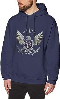 DeMaXIy Men Saints Row Pure Cotton Navy Hoodie Sweatshirt Jacket Pullover Tops