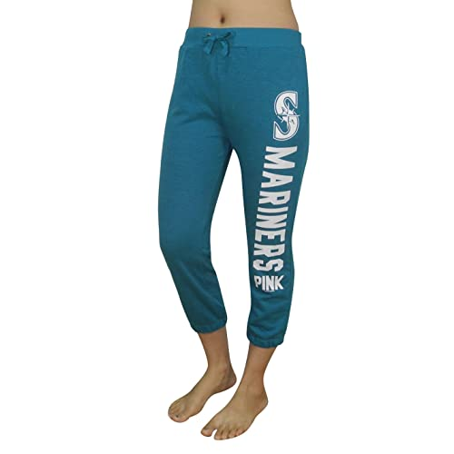 099bb087b84036 Pink Victoria's Secret Womens SEATTLE MARINERS Yoga Crop Pants