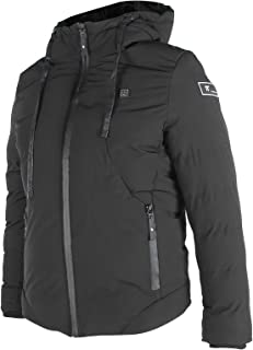 𝐂𝐡𝐫𝐢𝐬𝐭𝐦𝐚𝐬 𝐃𝐞𝐚𝐥 電気加熱ジャケット、充電式USB加熱コート防水暖かい服のコート、冬のキャンプハイキングスキー釣りのための3つの加熱設定(L)