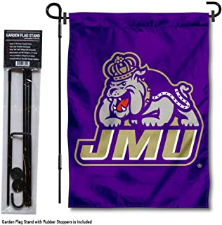College Flags & Banners Co. James Madison Dukes JMU Garden Flag with Pole Stand Holder