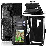 Qiaogle Téléphone Coque - PU Cuir Rabat Wallet Housse Case pour ASUS ZenFone GO ZB551KL (5.5...