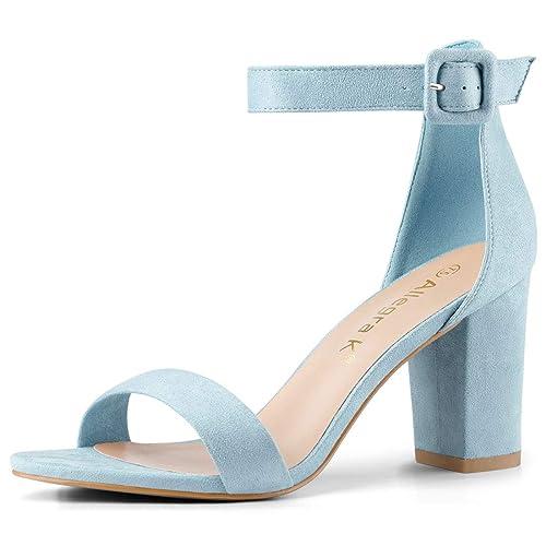 846c8a8da17dd Blue High Heel Sandals: Amazon.co.uk