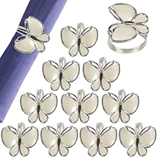 wonlex Butterfly Napkin Rings 12 Pack, Napkin Ring for Easter, Christmas, Home, Kitchen, Hotel, Dinner Party and Table(Butterfly)