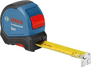Bosch Professional måttband 5m (hanteras med en hand, bältesklämma, magnethakar, 2 stoppknappar, 27mm stålband med nylon)
