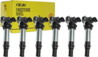 Deal 6pcs Brand New Ignition Coil For Buick/Chevy/GMC/Saturn/Saab/Cadillac Allure LaCrosse Rendezvous Enclave Traverse Vectra Acadia Outlook 9-3 Turbo CTS SRX STS 2.8L/3.6L V6