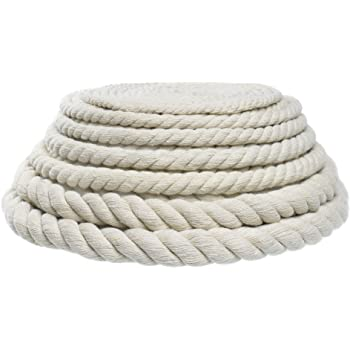 1//2 50 5//8 1//4 100 Feet Super Soft White and Assorted Colors 3//4 10 1 Inch Diameters West Coast Paracord Twisted 3 Strand Natural Cotton Rope Artisan Cord 25 Camel, 1//4 Inch x 50 Feet