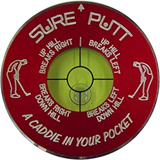 Sure Putt Pro - Golf Putting Aid & Green Reader - Red