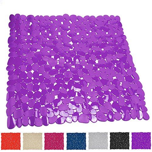 TP-Products - Tappetino da Doccia, in PVC, a Forma di ciottoli, Colore: Rosa Viola