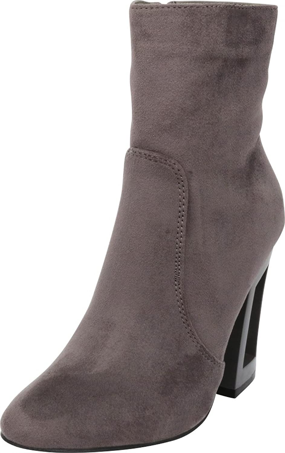 Cambridge Select Women's Closed Toe Chunky Structural Hollow Heel Ankle Bootie