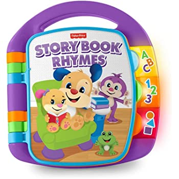 Fisher-Price M064826 Laugh and Learn Story, Rhymes, Electronic Educational Toddler Baby Book Toy with Words, Suitable for 6 Months Plus in Assorted Colours