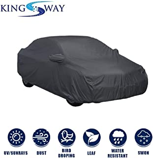 Kingsway Dust Proof Car Body Cover with Mirror Pockets for Maruti Suzuki Ciaz (Model Year : 2014-2017) (Grey Matty, Triple Stitched)