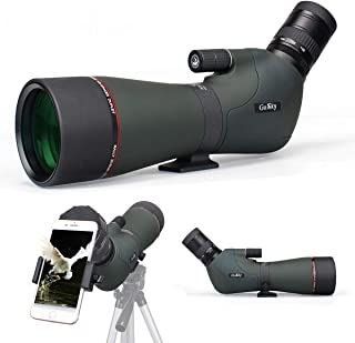 Gosky Newest 20-60x80 Dual Focusing Spotting Scope - Waterproof HD Optics Zoom Scope with with Carrying Case and Smartphon...