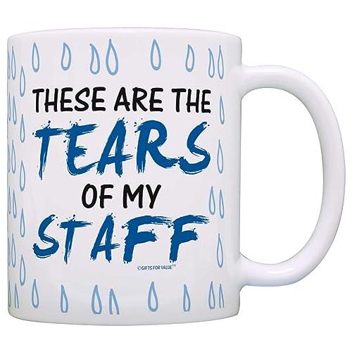 Coworker Boss Gift Tears of my Staff Office Humor Gag Gift Coffee Mug Tea  Cup Tear a9100c445ac3