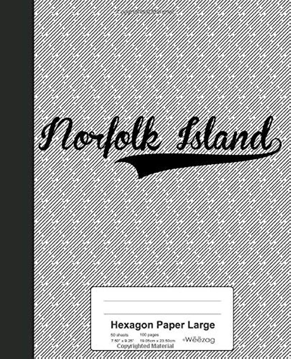 周辺トリクルエクスタシーHexagon Paper Large: NORFOLK ISLAND Notebook (Weezag Hexagon Paper Large Notebook)