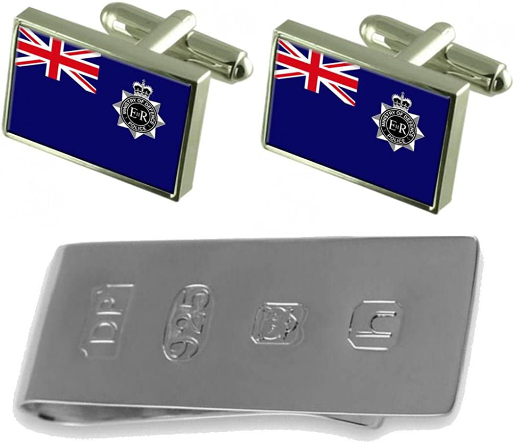 Bargain Select Gifts Ministry of Large-scale sale Defence Military Cufflinks Police Flag