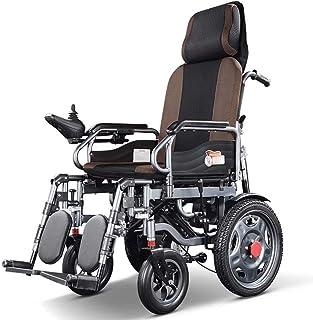 MYJHUIY modelo Silla de ruedas eléctrica, plegable, acero, con motor, para discapacitados, minusválidos, ancianos, ortopedica, para mayores