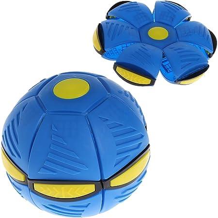LyGuy Volante UFO Flat Throw Disc Ball con LED Light Toy Kid Outdoor Garden Beach Game Palla Giocattolo Regalo per Bambini Blu