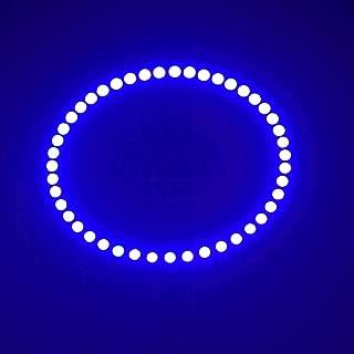 2PCS x Car Led Headlight 90mm 3528 27SMD Angel Eyes Halo Ring Daytime Running Light (Blue)