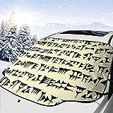 Protector Solar Parabrisas cuneiforme babilónico Cubierta de Nieve Eliminación de Hielo Protector de Visera del limpiaparabrisas...